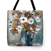 White Flower In Vase And Mug Tote Bag