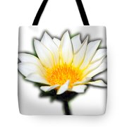 White Flower T-shirt Tote Bag