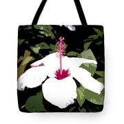 White Flower Work Number 4 Tote Bag