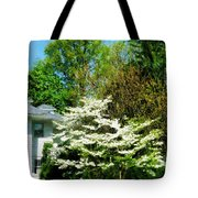 White Flowering Tree Tote Bag