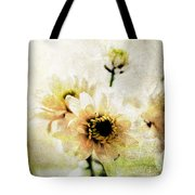 White Flowers Tote Bag by Linda Woods
