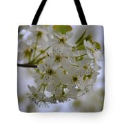 White Flowers On A Tree Tote Bag