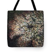 White Flowers On Bald Head Tote Bag