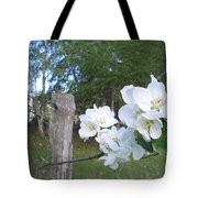 White Flowers Tote Bag