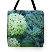 White Flowers W14 Tote Bag