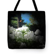 White Flowers With Monarch Butterfly Tote Bag