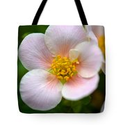 White Flowers With Pink And Yellow Tote Bag