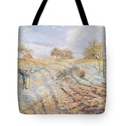 White Frost Tote Bag by Camille Pissarro