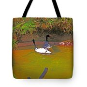 White, Geese, On, Pond Tote Bag
