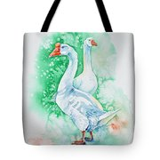 White Geese Tote Bag