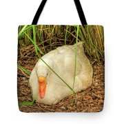 White Goose By Pond Tote Bag