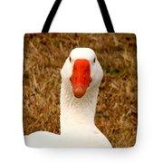White Goose Close Up 1 Tote Bag