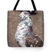 White-gray Pigeon Profile Tote Bag