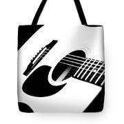 White Guitar 4 Tote Bag
