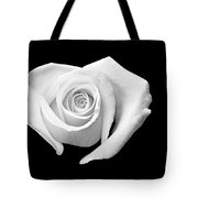 White Heart-shaped Rose Tote Bag