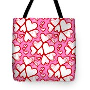 White Hearts - Valentines Pattern Tote Bag
