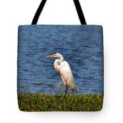White Heron Tote Bag