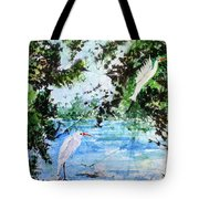 White Herons Tote Bag