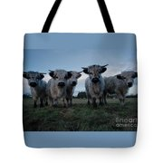 White High Park Cow Herd Tote Bag