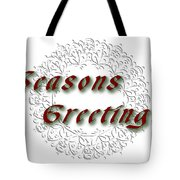 White Holiday Card Tote Bag