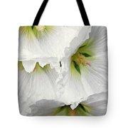 White Hollyhocks Tote Bag