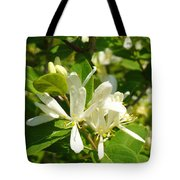 White Honeysuckle Blossoms Tote Bag