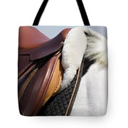 White Horse And Saddle Tote Bag