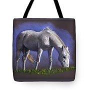 White Horse Grazing Tote Bag