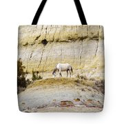 White Horse On A Mound Tote Bag