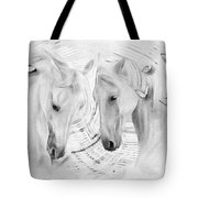 White Horses No 01 Tote Bag