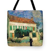 White House At Night Tote Bag by Vincent Van Gogh