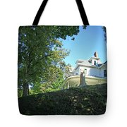 White House With Hillside Shade Tote Bag