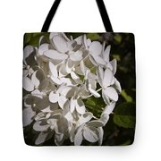 White Hydrangea Bloom Tote Bag