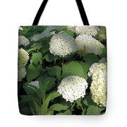 White Hydrangea Bush Tote Bag
