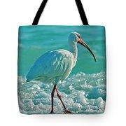 White Ibis Paradise Tote Bag
