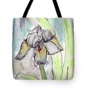White Iris Tote Bag