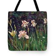 White Irises Tote Bag