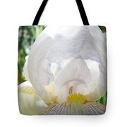 White Iris Flower Art Print Sunlit Irises Baslee Troutman Tote Bag