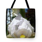 White Iris Flower Art Prints Canvas Irises Artwork Tote Bag