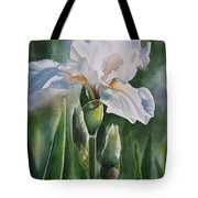 White Iris With Bud Tote Bag by Sharon Freeman