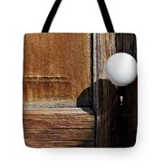 White Knob Tote Bag