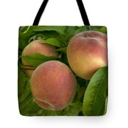 White Lady Peaches On A Branch Tote Bag