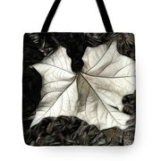 White Leaf On The Ground Tote Bag
