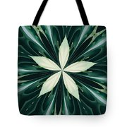 White Leaves In A Green Forest Kaleidoscope Tote Bag