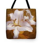 White Lilies. Time To Be Romantic Tote Bag