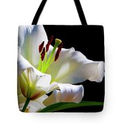 White Lilium Tote Bag