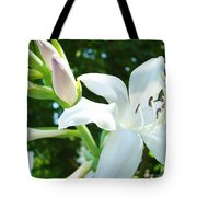 White Lily Flowers Art Prints Lilies Giclee Baslee Troutman Tote Bag