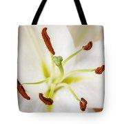White Lily Macro Tote Bag