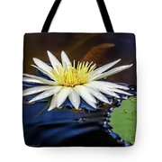 White Lily On Pond Tote Bag