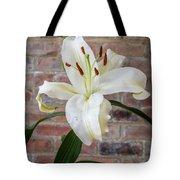 White Lily Portrait Tote Bag